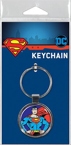 Superman on Blue Keychain