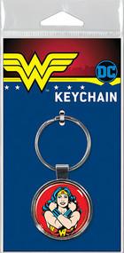Wonder Woman on Red Keychain