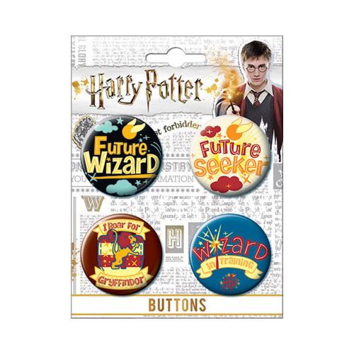 Harry Potter 4 Piece Button Set #85247BT4