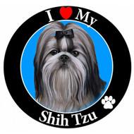 I Love My Black and White Shih Tzu Magnet