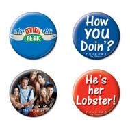 Friends 4 Piece Button Set