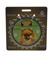 I Love my Pomeranian Magnetic Bottle Opener