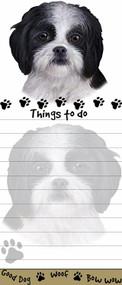 Black Shih Tzu Puppy Magnetic Sticky Note Pad