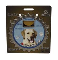 I Love my Yellow Labrador Magnetic Bottle Opener