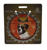 I Love my Uncropped Boxer Magnetic Bottle Opener