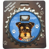 I Love my Yorkie Puppy Magnetic Bottle Opener