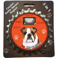 I Love my American Bulldog Magnetic Bottle Opener