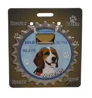 I Love my Beagle Magnetic Bottle Opener