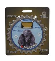 I Love my Black Poodle Magnetic Bottle Opener
