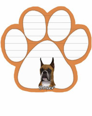 Boxer Cropped Dog Paw Magnetic Note Pad