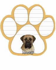 Mastiff Dog Paw Magnetic Note Pad