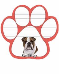 Bulldog Dog Paw Magnetic Note Pad