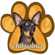 Black Chihuahua Paw Print Magnet