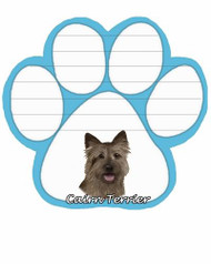 Cairn Terrier Dog Paw Magnetic Note Pad