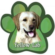 Yellow Labrador Paw Print Magnet