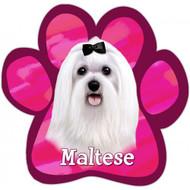Maltese Paw Print Magnet