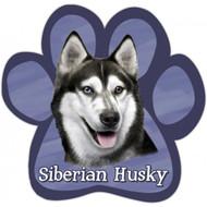 Siberian Husky Paw Print Magnet