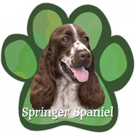Springer Spaniel Paw Print Magnet