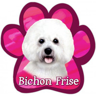 Bichon Frise Paw Print Magnet