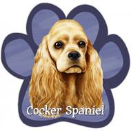 Cocker Spaniel Paw Print Magnet