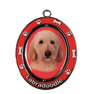 Labradoodle Spinning Keychain