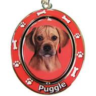 Puggle Spinning Keychain