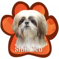 Tan and White Shih Tzu Paw Print Magnet