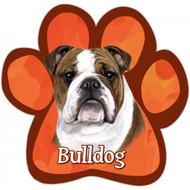 Bulldog Paw Print Magnet