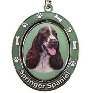 Springer Spaniel Spinning Keychain
