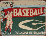 Topps 1954 Baseball Tin Sign