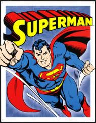 Superman Retro Panels Tin Sign
