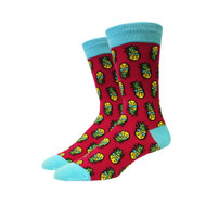 Ms. Retro Pineapple One Size Fits Most Crew Socks