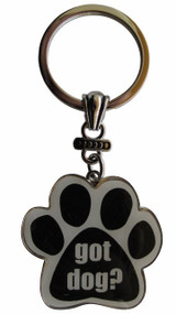 Got Dog Paw Print Keychain