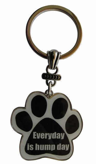 Everyday is hump day Paw Print Keychain
