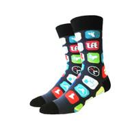 Social Media One Size Fits Most Crew Socks