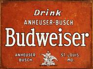 Drink Anheuser-Busch Budweiser Tin Sign