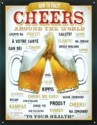Cheers Around The World Tin Sign