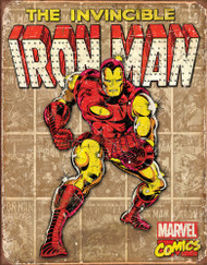 Iron Man Retro Panels Tin Sign