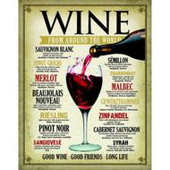 Wine Around the World Tin Sign