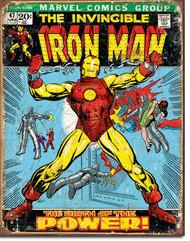 Iron Man Comic Book Cover Tin Sign