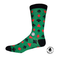 Aces and Deuces One Size Fits Most Crew Socks