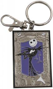 Nightmare Before Christmas Jack Skellington and Zero Pewter Keychain