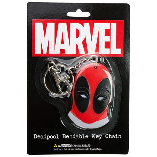Deadpool Logo Bendable Keychain