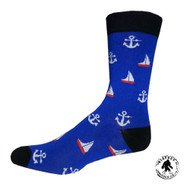 A Sailor?! Boats! Boats! Boats! One Size Fits Most Crew Socks