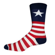 Captain USA One Size Fits Most Crew Socks