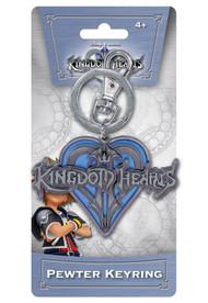Kingdom of Hearts Logo Pewter Keychain