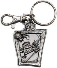 Nightmare Before Christmas Jack Skellington and Scary Teddy Pewter Keychain