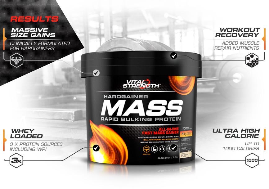 Hardgainer Mass Gain Bulking Protein Powder | Vitalstrength