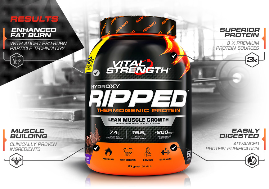 Vitalstrength Hydroxy Ripped Protein Features
