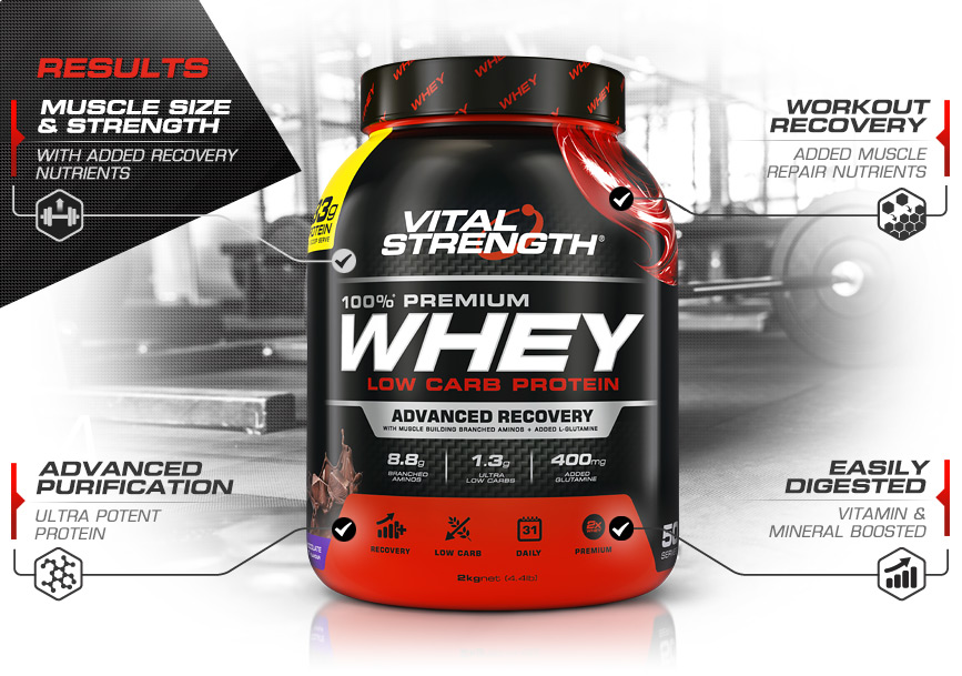 100% Whey Protein Powder Features